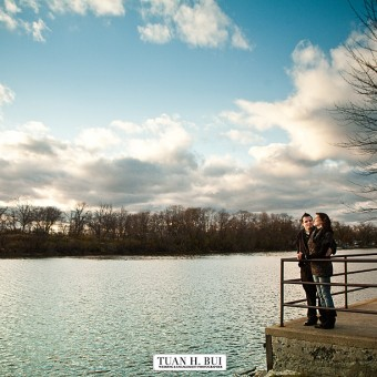 A winter engagement session